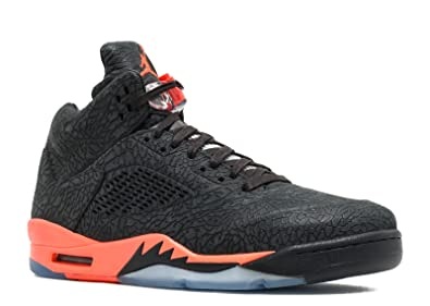 ee36eba3c541 Jordan Men s DS NIB Nike Air 5 V Retro 3Lab5 2013 Black Infrared (