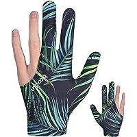 Zeaye 1Pcs guantes de billar, guantes de taco de billar de tres dedos para hombres, guantes de tiro de billar
