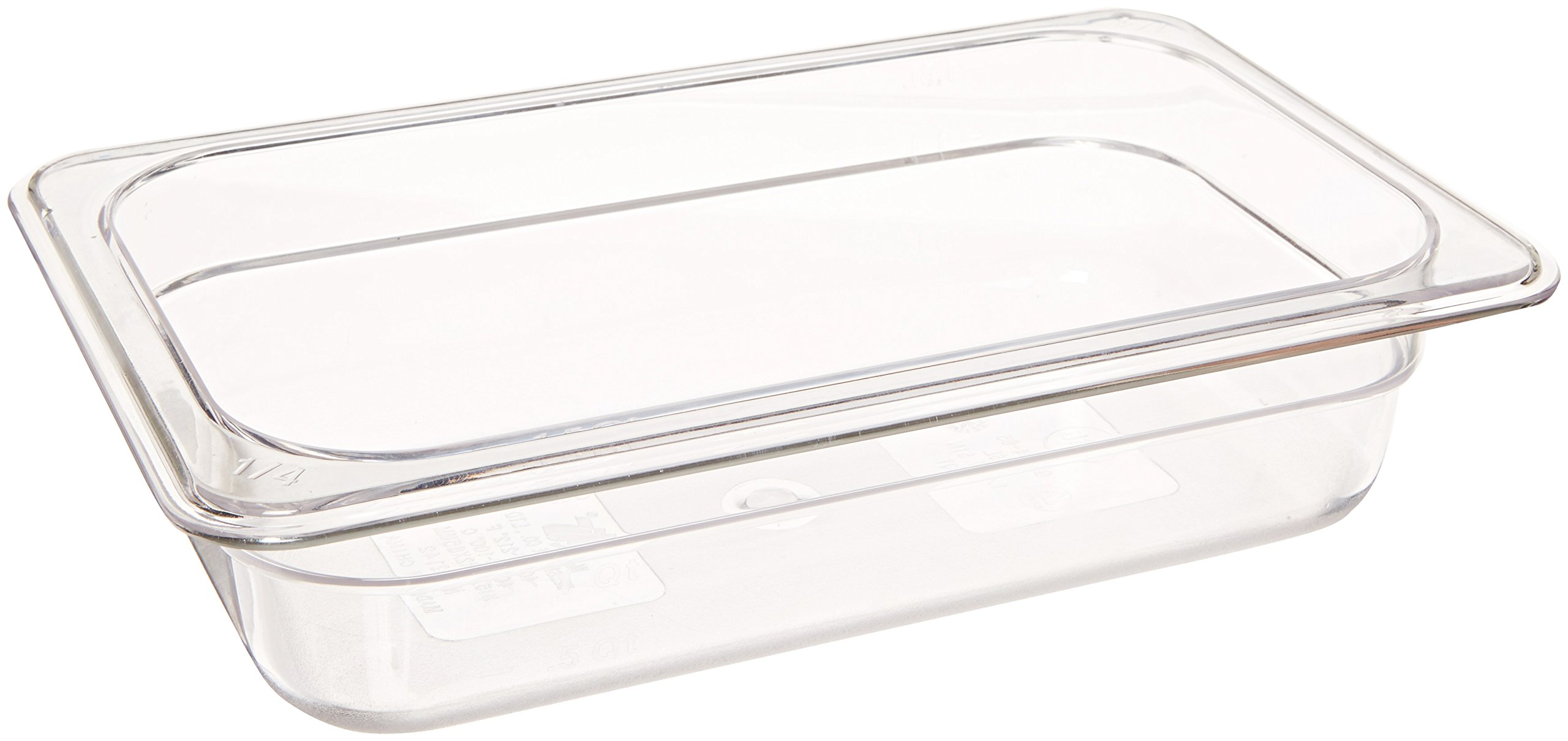 Crestware Polycarbonate Food Pan Fourth Size 2-1/2-Inch