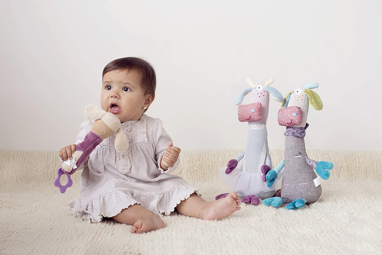 STORKI Mouse Squeaker and Teether Plush Toy