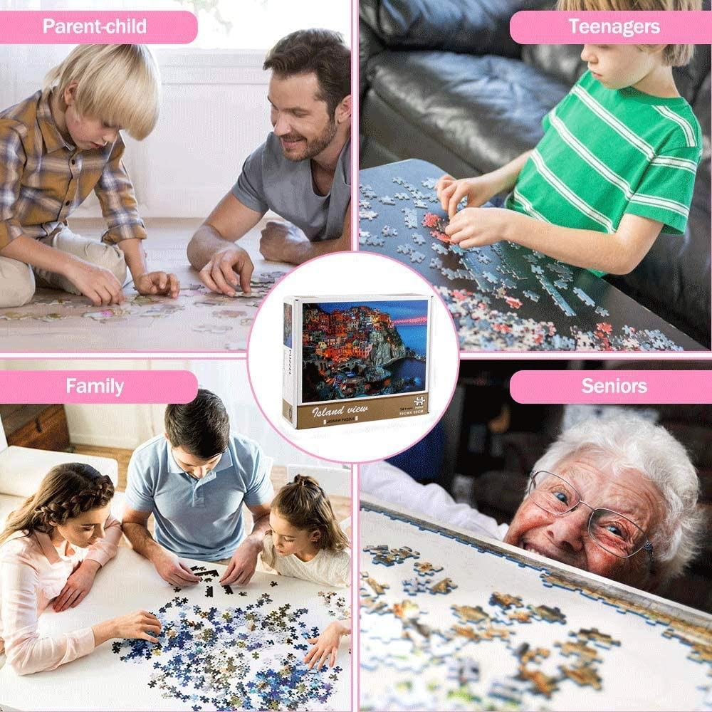 Jigsaw Puzzle 1000 Piece Ocean Puzzle Seaside Adult Puzzles Premium Quality Puzzles for Adults 1000 Piece Puzzle Finished Size is 28.9 x 20.1 inches