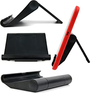 DURAGADGET Foldablee Compact Smartphone Stand in Black – Compatible with The Acer One 10 (S1003-199D)