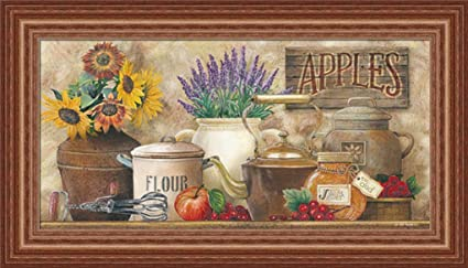 Antique Kitchen By Ed Wargo Country Kitchen Décor 21x12 Wall Art Print  Framed Picture