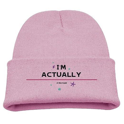 661835dd65c I m Actually Really A Mermaid Shirt Soft Knit Beanie Hat Warm Thick ...