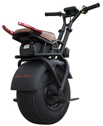SUPERRIDE Self Balancing Electric Unicycle S1000 G2 – One Wheel Electric Scooter with Single Fat Tire & 1000W Motor