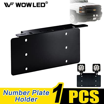 Amazon.com: WOWLED Universal License Number Plate Mounting Bracket ...