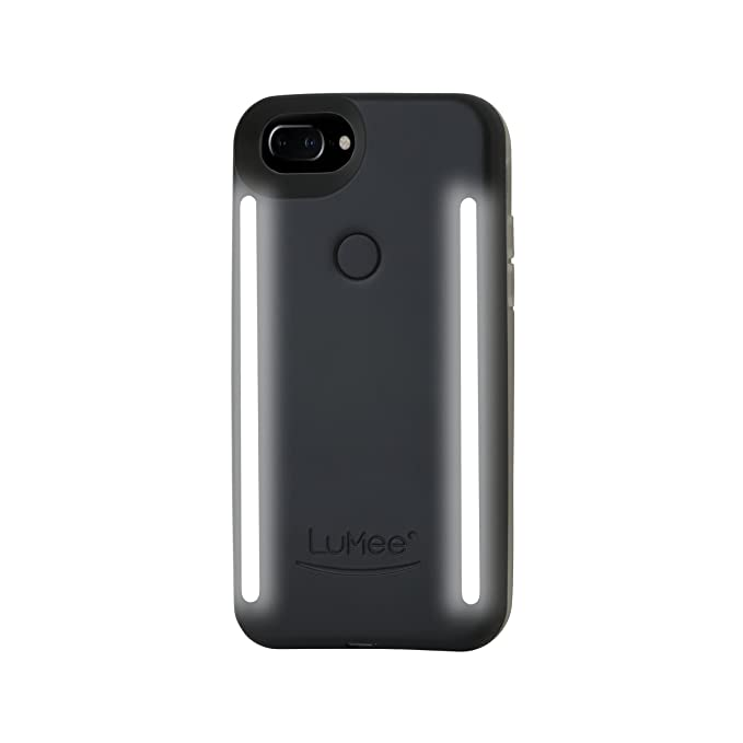 9c9b121cd92 LuMee Duo Phone Case, Black Matte | Front & Back LED Lighting, Variable  Dimmer | Shock Absorption, Bumper Case, Selfie Phone Case | iPhone 8+ / iPhone  7+ ...