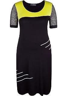 Doris Streich Damen Jerseykleid MIT HALBLANGEN NETZÄRMELN große Größen 87ef07345c