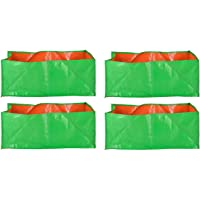 "YUVAGREEN Terrace Gardening Leafy Vegetable Green Grow Bag (18"" X 12 "" X 9"" ) - (Pack Of 4 )"