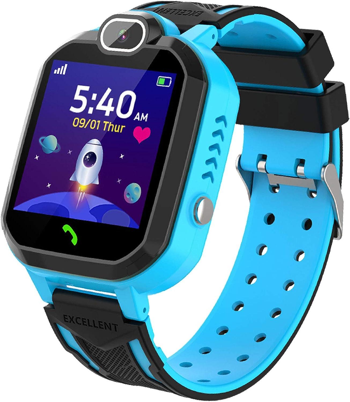 YENISEY Smartwatch Niño, Game Watch con Juego Cámara 100+ Fotos Música Despertador Modo Escuela Llamadas SOS Smart Watch Reloj Inteligente Niño 4-12 Años Niña Chico Cumpleaños Festival Regalo-Azul