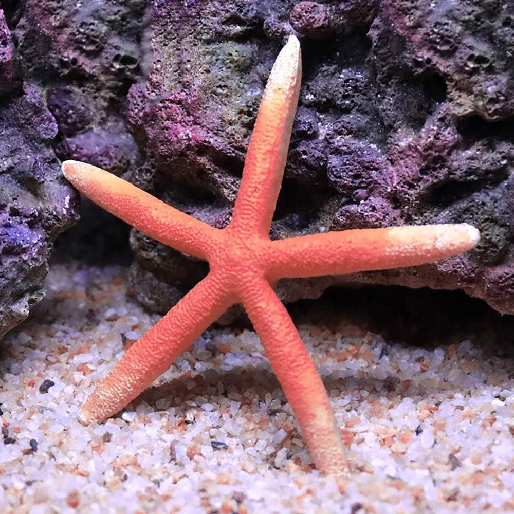 "Danmu 1Pc of Polyresin Coral Ornaments, Aquarium Coral Decor, Starfish Decor for Fish Tank Aquarium Decoration 4 7/10"" Dia"