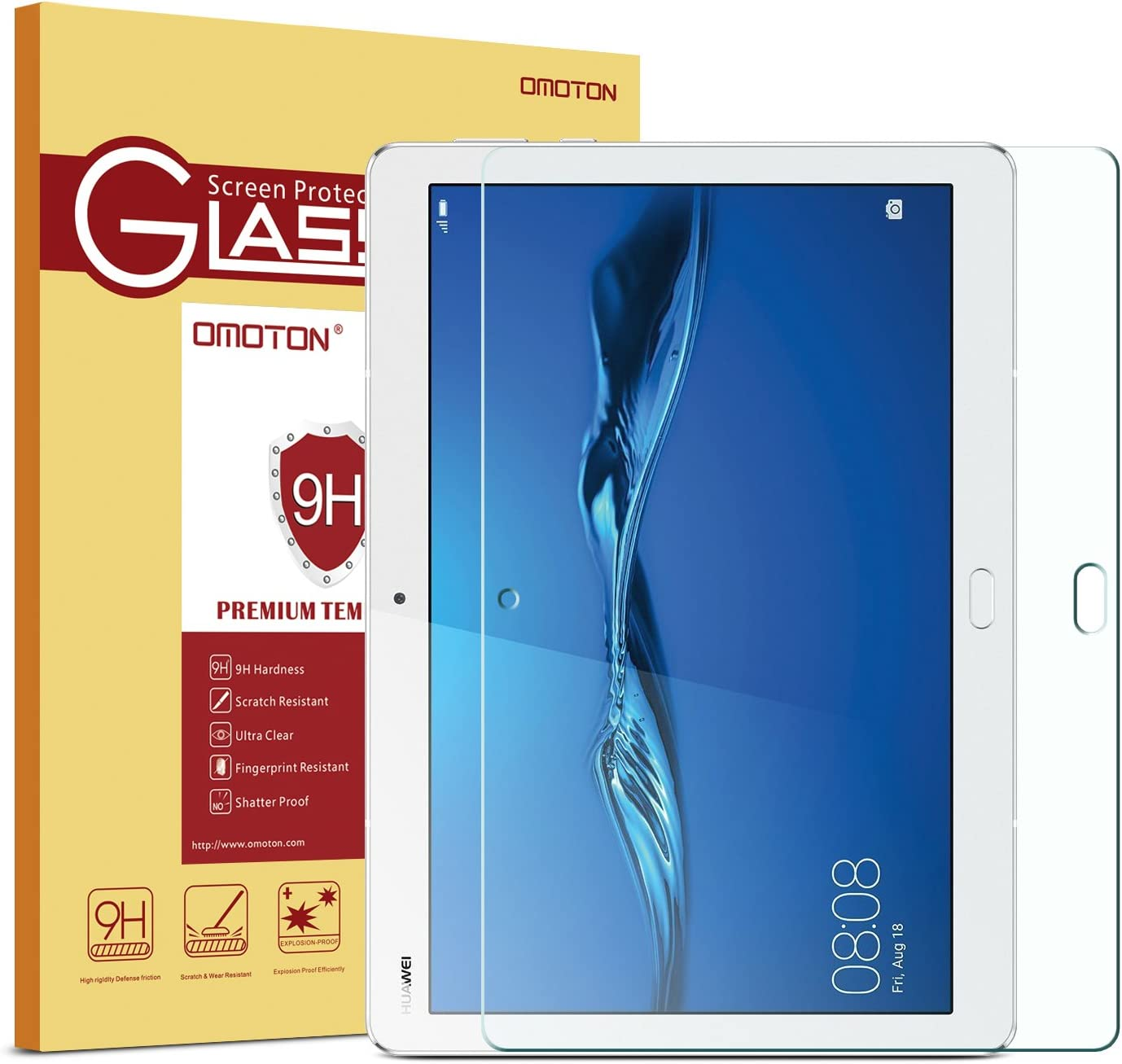 WEOFUN Verre Tremp/é Huawei Mediapad M3 Lite 10 Film Protection pour Huawei Mediapad M3 Lite 10.1 Tablet Protecteur d/écran 0.33mm, 9H, Ultra Transparent