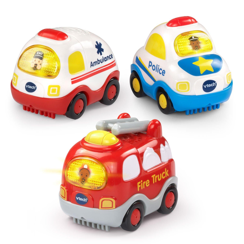 VTech Go! Go! Smart Wheels Emergency Vehicles 3-Pack by VTech (Image #1)