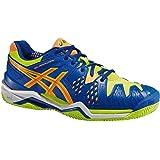 ASICS – Gel-Resolution Clay 6 Chaussures de Tennis pour Homme (Bleu/Jaune)