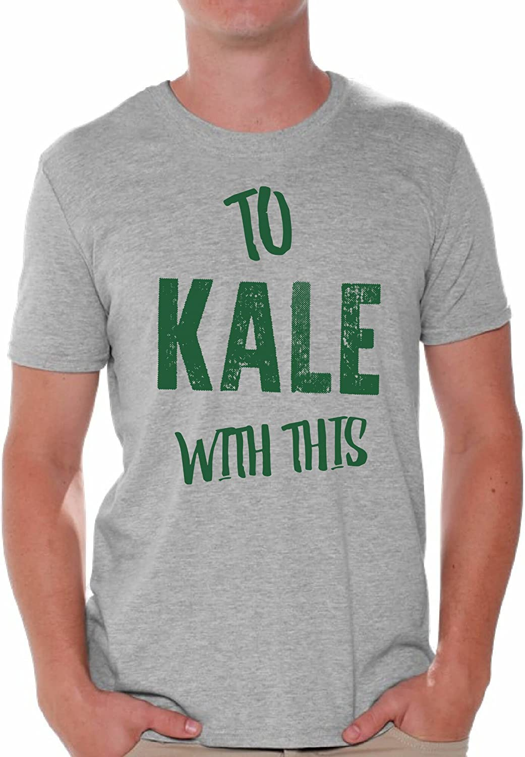 Awkward Styles Men's to Kale with This T Shirt Tops Vegetarian