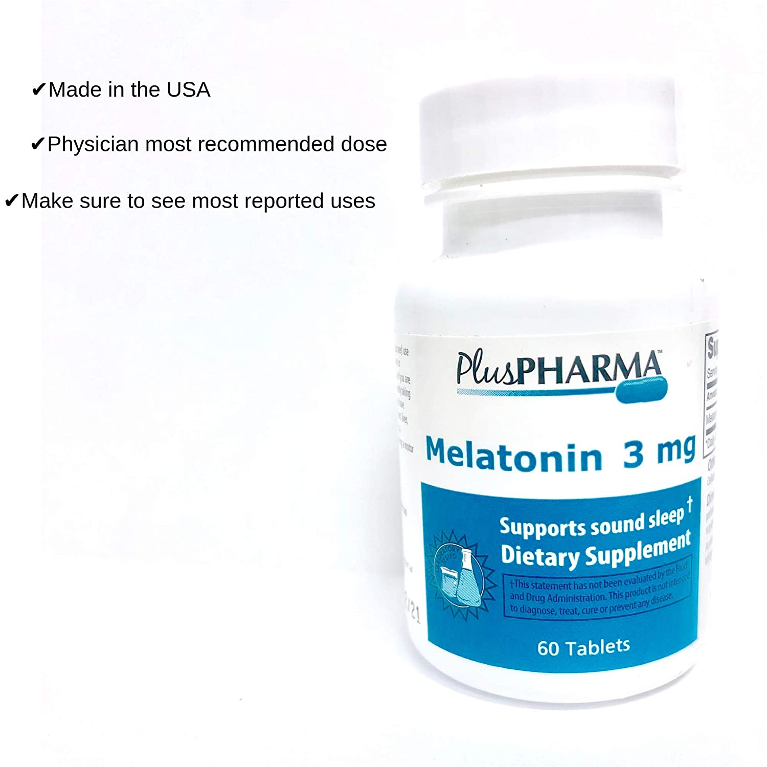 Amazon.com: Melatonina (3mg) – 60 tabletas: Health ...