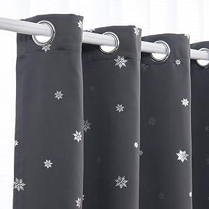 Sweepstakes: Rutterllow Christmas Silver Snowflake Blackout Grommet Printed...
