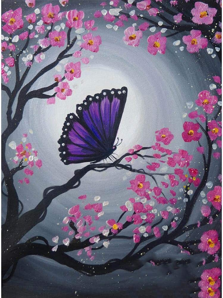 Prosperveil DIY 5D Diamond Painting Cherry Blossom and Butterfly Kits Full  Drill Crystal Rhinestone Embroidery Cross Stitch Craft Wall Art Pictures  for Living Room Bedroom Home Decor: Amazon.co.uk: Kitchen & Home