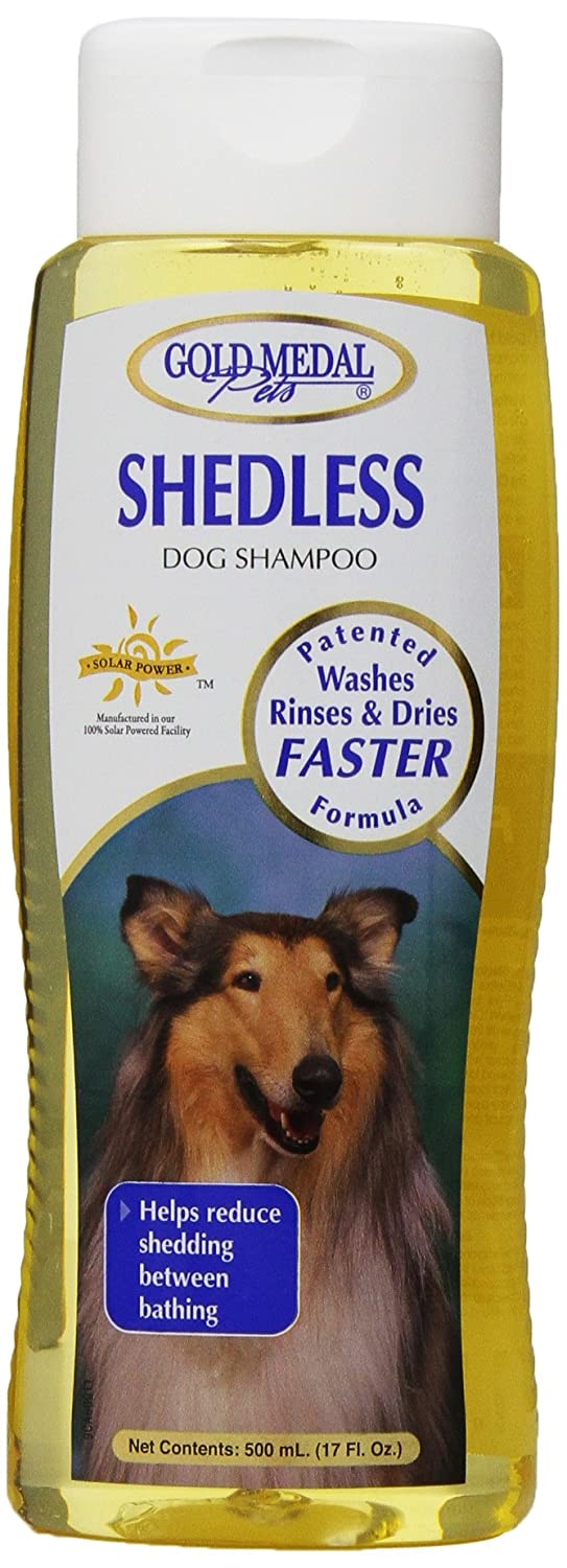 gold Medal Pets Shed Less Shampoo with Cardoplex for Dogs 17 oz.