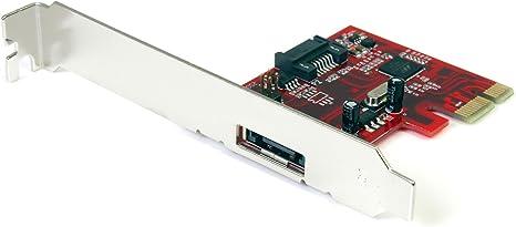 StarTech.com 1x eSATA + 1x SATA 6 Gbps PCI Express SATA Controller Card Adapter - eSATA Controller - PCIe eSATA (PEXSAT31E1)