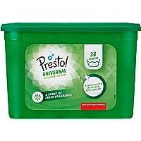 Amazon-merk - Presto! wascapsules bio universeel, 152 wasbeurten (4 pakketten, 38 elk)