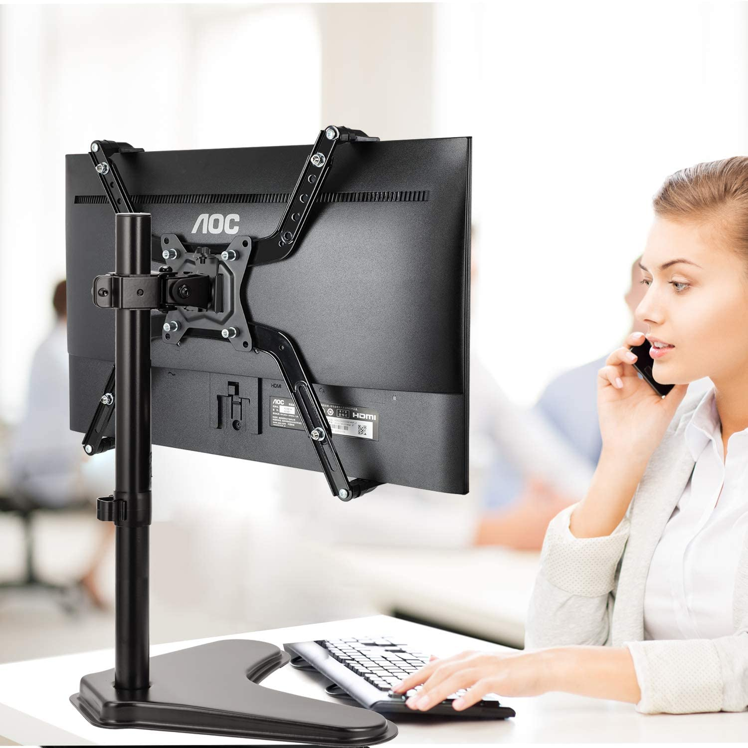 Non-VESA Adapter for 17 to 32 Inch Monitor Screens to 75x75 and 100x100 VESA Mount Universal VESA Mount Adapter Kit