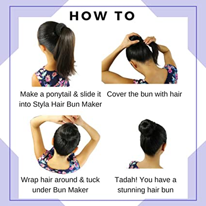 amazon com styla hair 3 piece donut hair bun maker 1 small 1