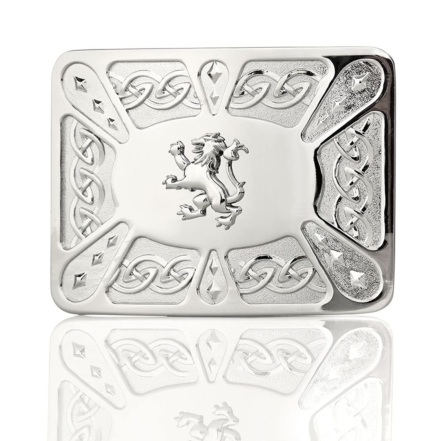 Scottish Lion Chrome Kilt Buckle