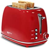Keenstone Retro 2 Slice Toaster Stainless Steel Toaster with Bagel, Cancel, Defrost Fuction and Extra Wide Slots…