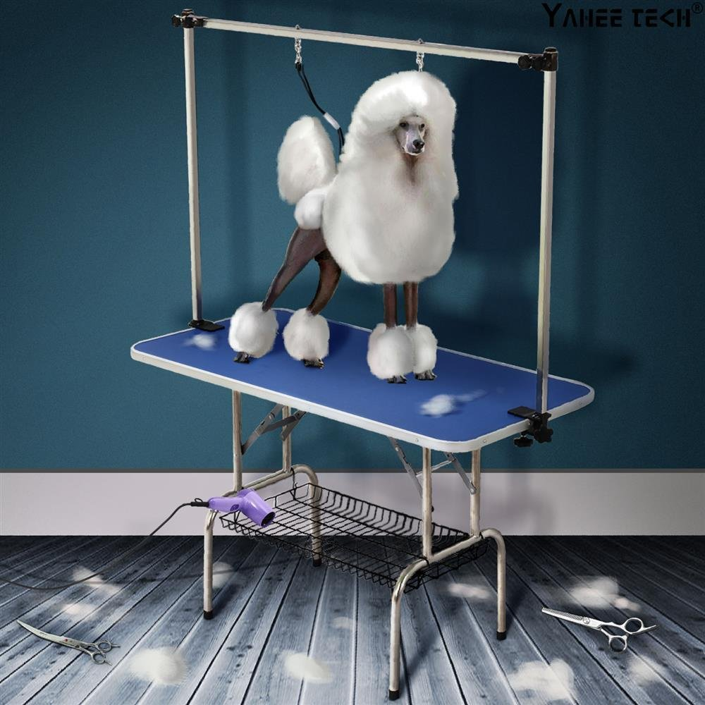 Yaheetech 47'' x 24'' Professional Adjustable Dog Pet Grooming Table W/Arm & Noose & Mesh Tray,Maximum Capacity Up to 331Lb