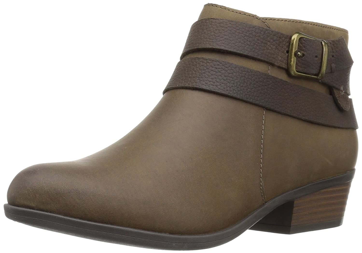 CLARKS Women's Addiy Cora Ankle Bootie B01NCOH5VP 10 W US|Olive