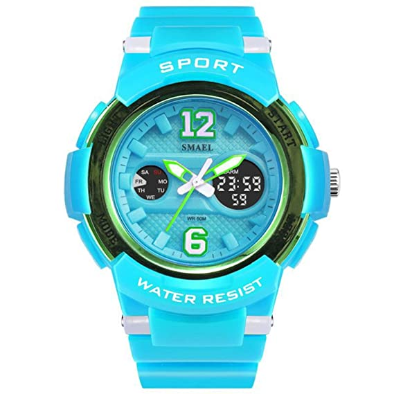 Daesar Reloj Mujer Reloj Deportivo Relojes Electronicos Reloj Mujer Quartz Reloj Deportivo Reloj Multifunción Gris Azul: Amazon.es: Relojes