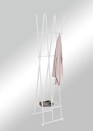Kleiderständer Weiß Metall import tom kleiderständer metall weiß 44 x 44 x 185 cm