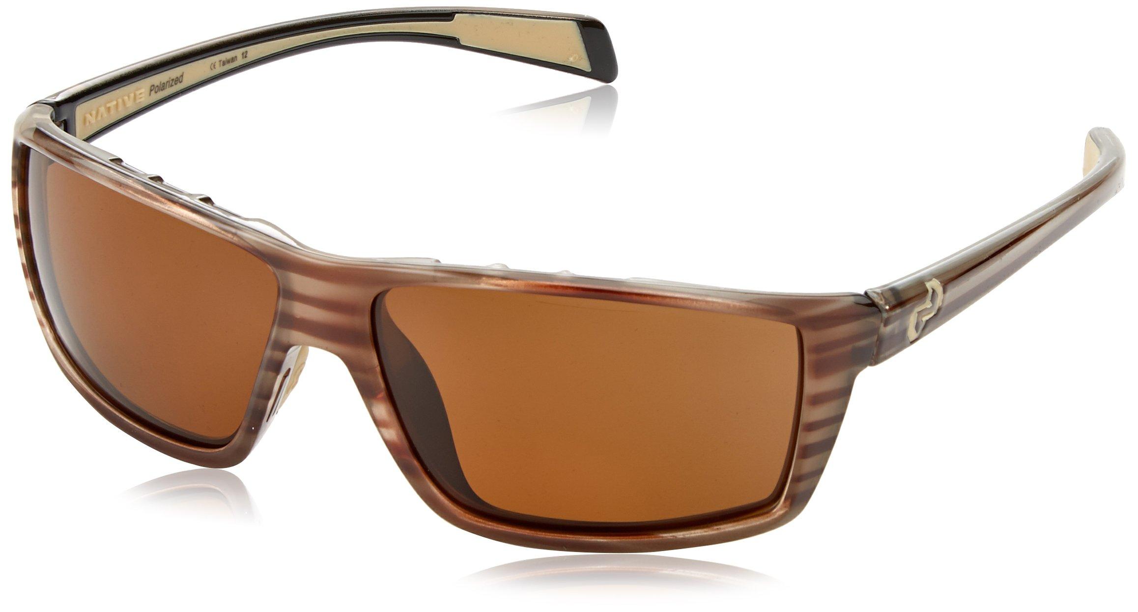 Native Eyewear Sidecar Polarized Sunglasses, Brown, Wood