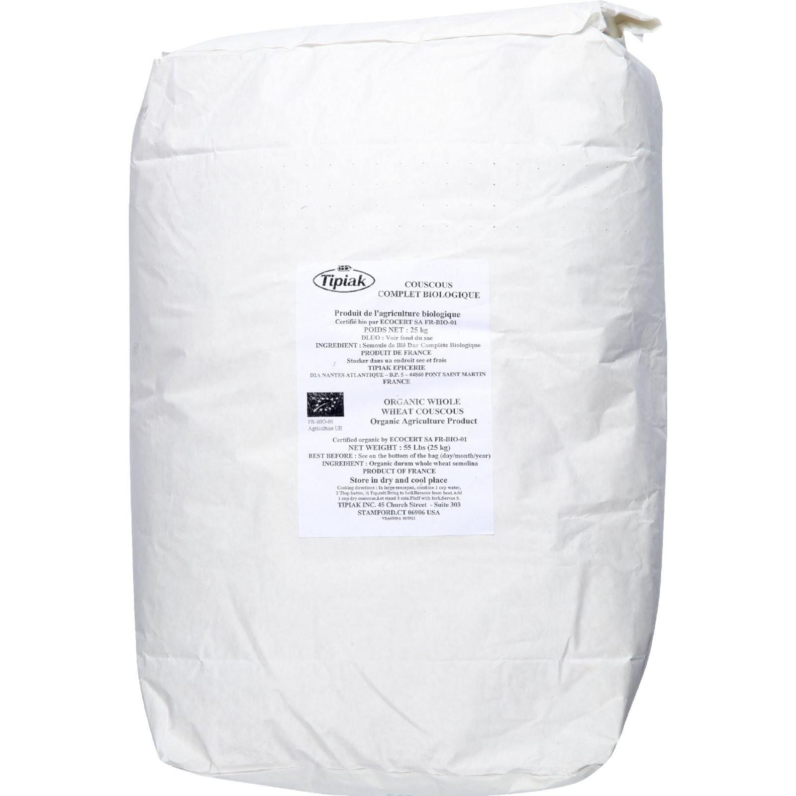 Couscous, 95% organic, Frnc, Whole Wht, 55 lb by Bulk Grains