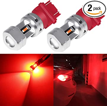 Turn Signal Blinker Lights,Red Pack of 2 3056 3156 3057 3157 Extremely Bright LED Bulbs for Tail Lights Stop Lights Brake Lights