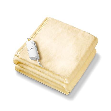Monogram - Manta eléctrica para colocar sobre el colchón (king size), color amarillo