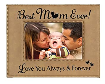 Amazoncom Gift For Mom Engraved Leatherette Picture Frame