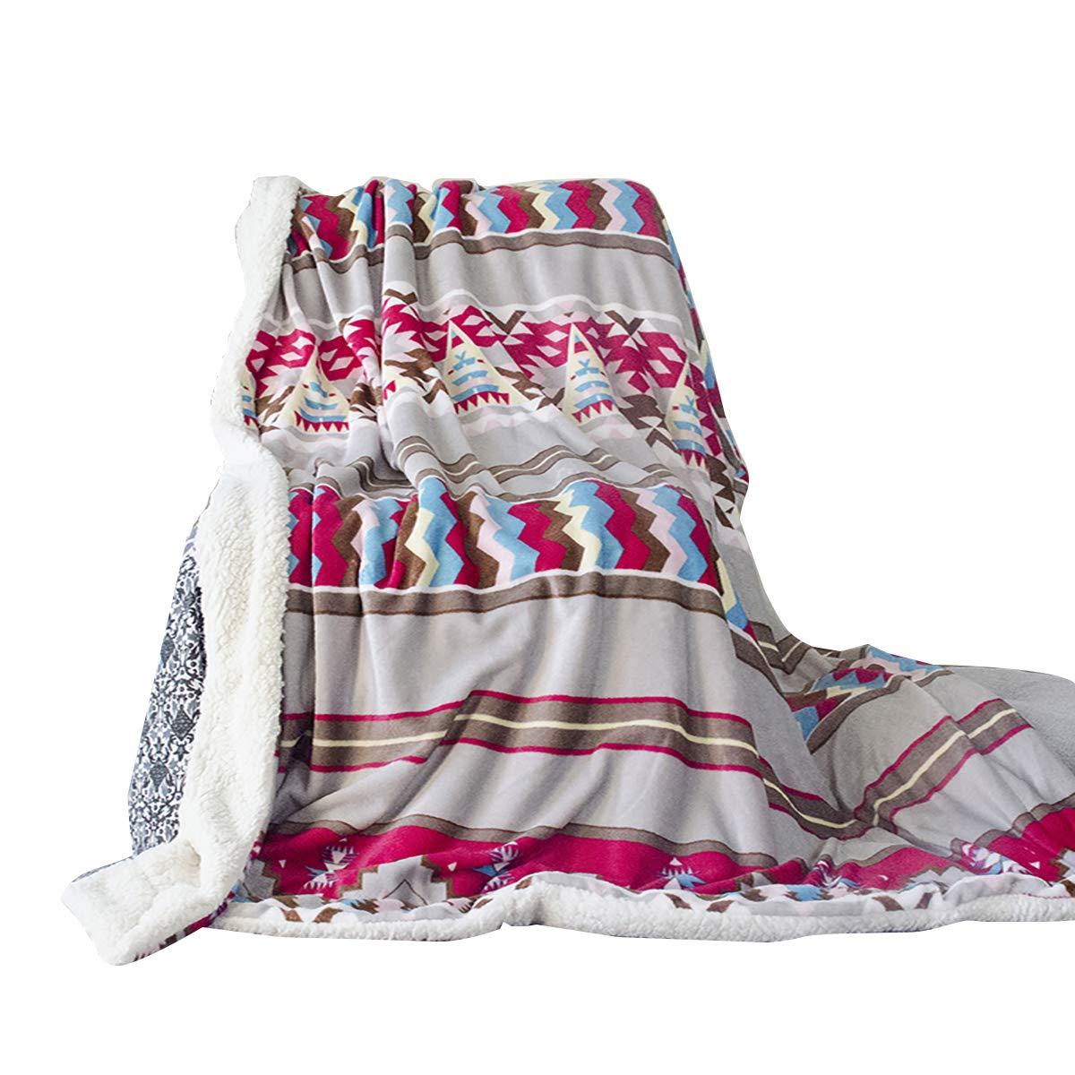 Uozzi Bedding Sherpa Fleece Blanket Warm Soft Luxurious Twin Size Plush TV  Fuzzy Microfiber Colorful Striped Flannel Spring Lightweight Bed Blanket  (60x80) 734fe947e