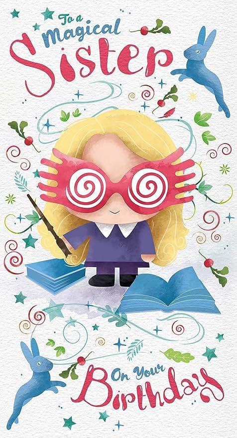 Harry Potter Tarjeta de cumpleaños oficial para hermanas, para una hermana mágica