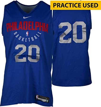 47a8c4012 Markelle Fultz Philadelphia 76ers Practice-Used  20 Reversible Jersey from  the 2017-18