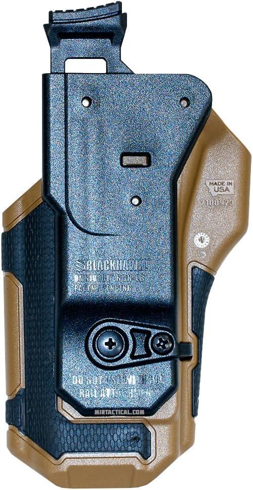Omnivore Nonlight multi-fit Holster Blackhawk Nonlight nero//marrone chiaro mano sinistra adatto a pi/ù di 150/stili cintura