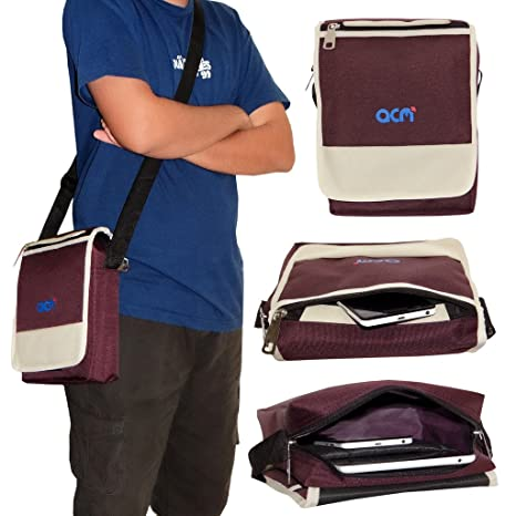 Acm Flip Soft Padded Shoulder Sling Bag for Samsung Galaxy Tab A T355 Carrying Case Purple Tablet Accessories