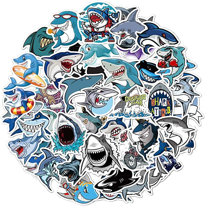 Top 9 Shark Stickers Cartoon