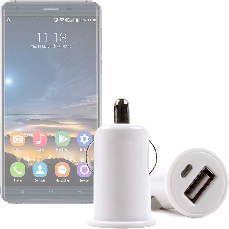 DURAGADGET Cargador Mechero del Coche con Puerto USB para Smartphone Oukitel K6000 Pro | Ulefone Metal - ¡No Se Quede Sin Batería Mientras Va Conduciendo!