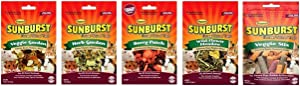 Higgins Sunburst Small Animal Treats 5 Flavor Variety Bundle (1) Each: Veggie Garden, Herb Garden, Berry Patch, Veggie Stix and Wild Flower Meadow.52-5 Ounces Each