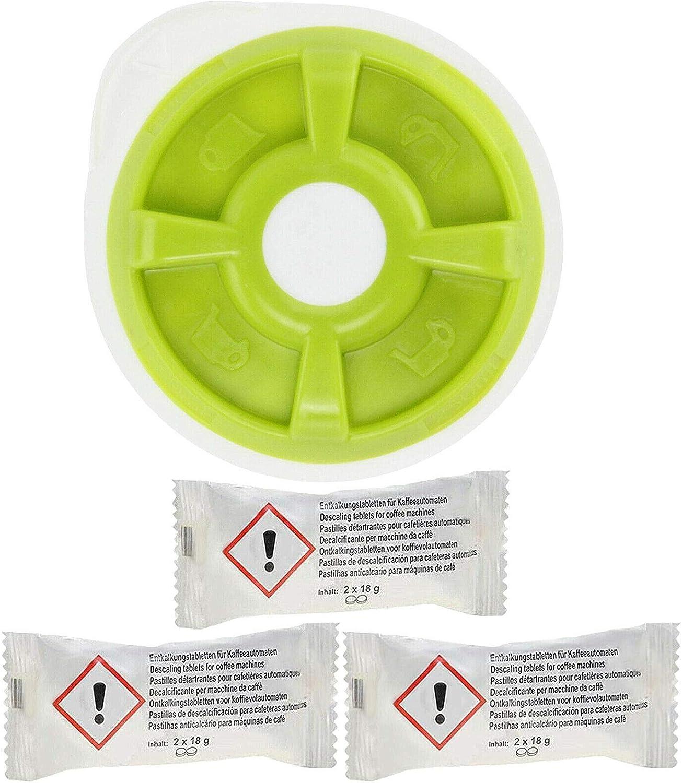 Disco de agua caliente + pastillas descalcificadoras compatibles con Bosch Tassimo SUNY T32 (6 tabletas descalcificadoras): Amazon.es: Hogar