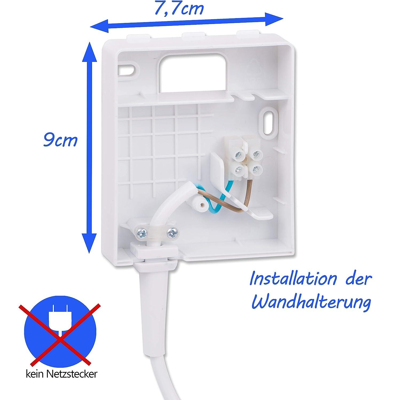 Secador hotel 1200 W con cable de espiral de 2 m conectado a soporte para pared | aire frío, 2 niveles de temperatura | secador de hotel | secador de pelo: ...