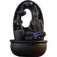 Zen'Light Harmonie Brunnen Polyresin schwarz 26x 16x 40cm