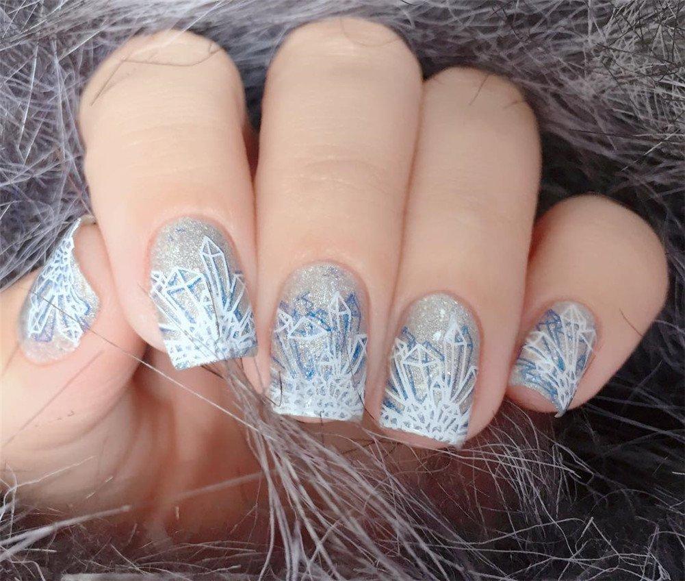 BORN PRETTY 1Pc Rectangle Stamping Plate Unicorn Pattern Manicure Nail Art Plate Harunouta L045 6